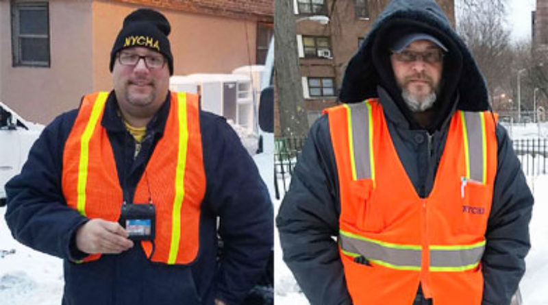 Emergency Services Department Maintenance Workers Rastislav Kovalcik and Estaben Cadiz