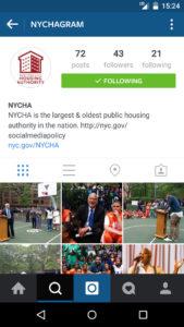 NYCHA Instagram