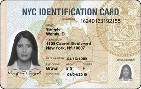NYC ID card