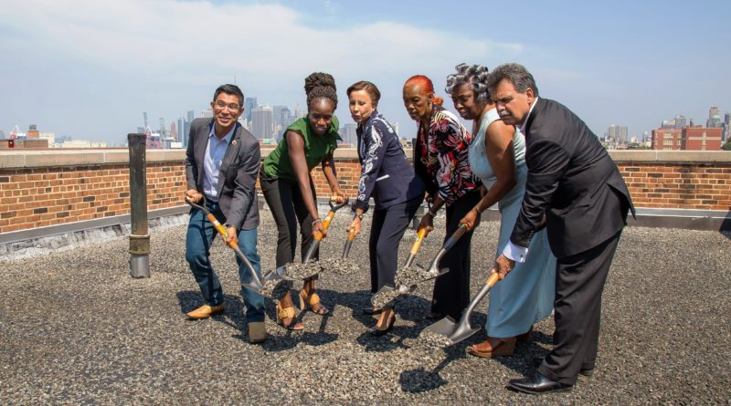 Red Hook Houses roof construction project groundbreaking