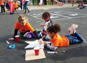 Kids building playground
