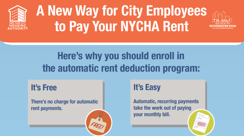 Automatic rent deduction program