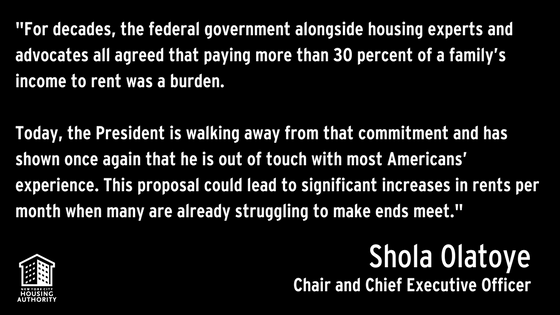 Chair's statement on federal budget