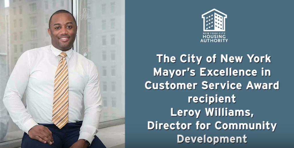 Leroy Williams awarded customer service award