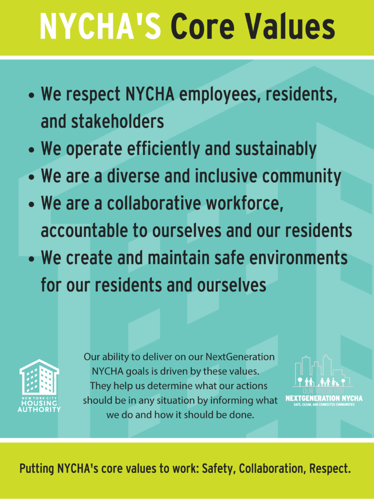 NYCHA's Core Values
