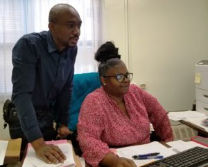 Staff using new computers at NYCHA