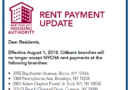 Notice: NYCHA Rent Payments No Longer Accepted at Certain Citibank Branches