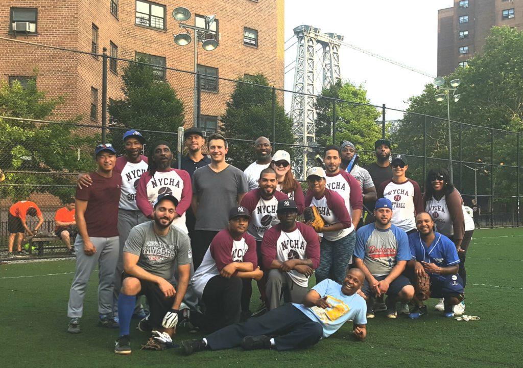 The NYCHA Skyliners softball team
