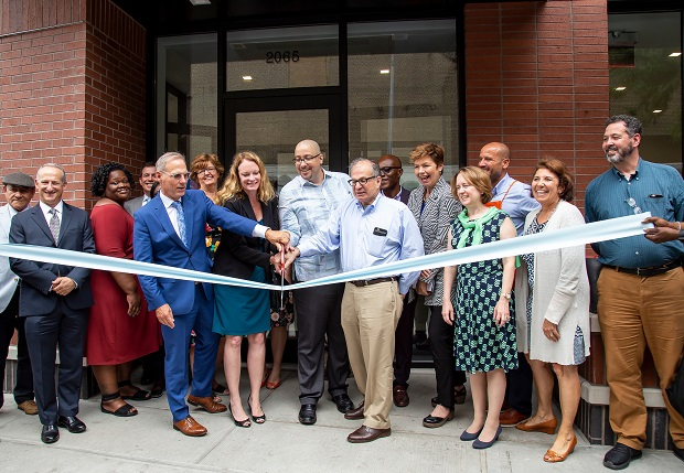 Walton House ribboncutting
