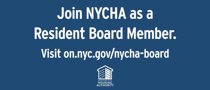 Join NYCHA as a resident board member