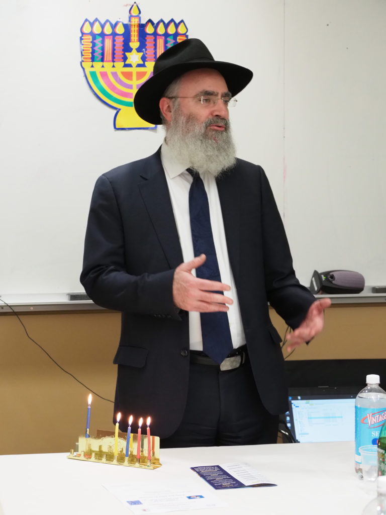Chanukah celebration guest speaker