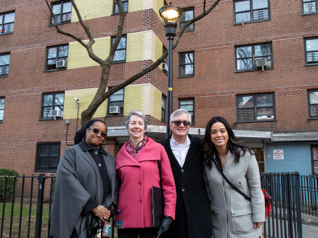 Touring new security enhancements at Gompers Houses