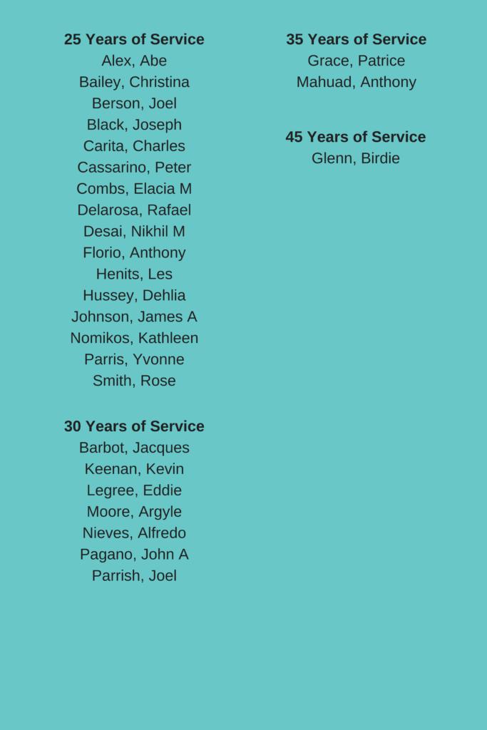 November 2018 work anniversaries