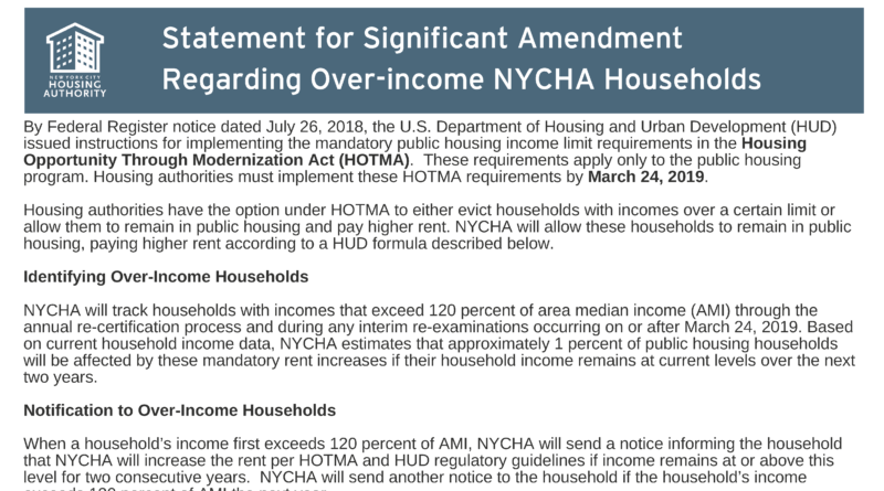 HUD rules on over-income households