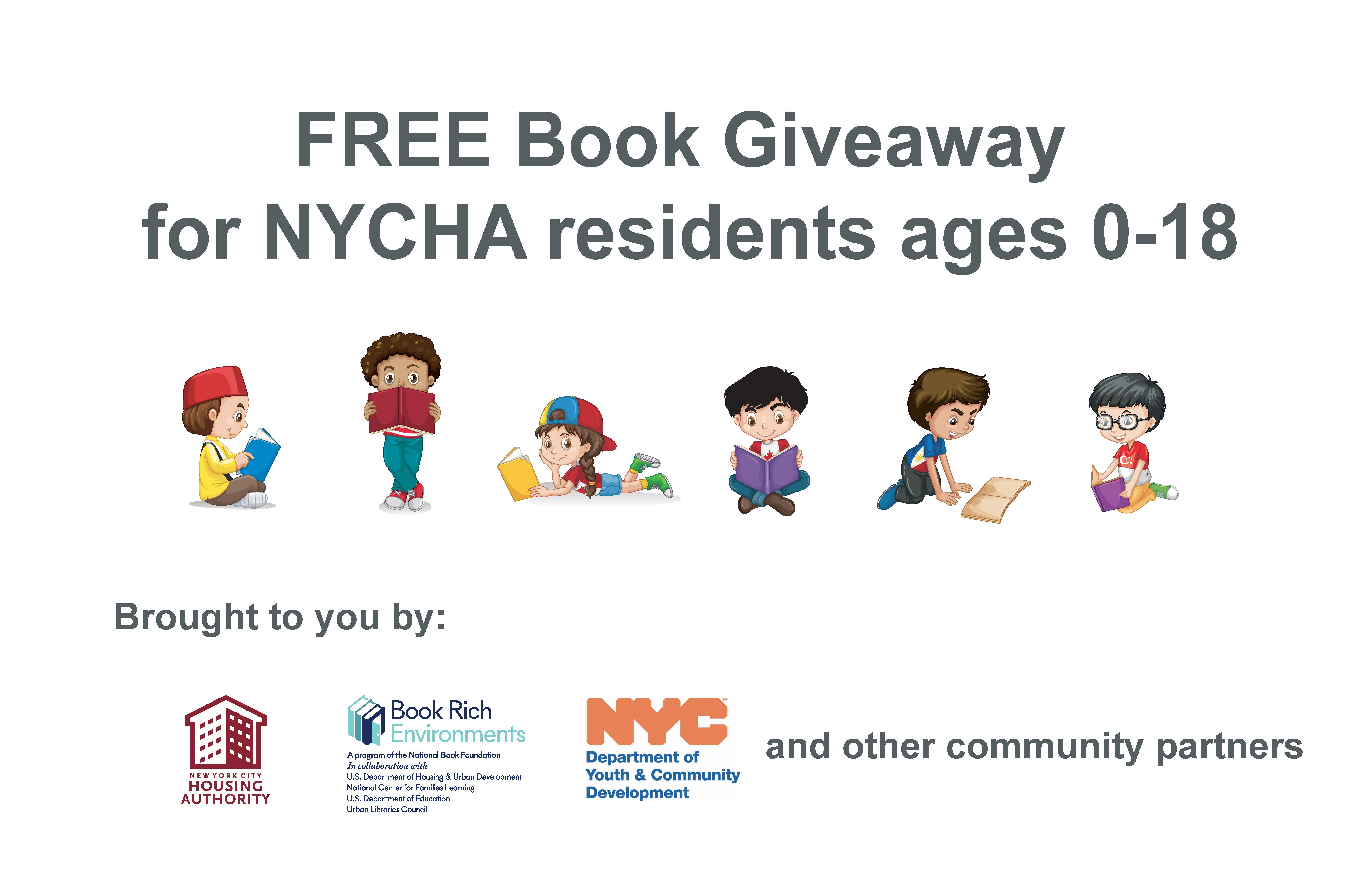 Free Books for NYCHA Residents Ages 0-18 – NYCHA Now